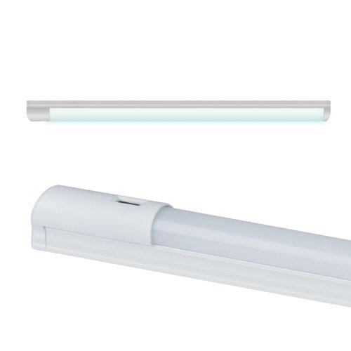 ULI-L24-8W-4200K SENSOR IP20 WHITE Светильник линейный светодиодный аналог Т8. с бесконтактным выключателем. 560х28х42мм. Белый свет. 600Lm. Корпус белый. TM Uniel.