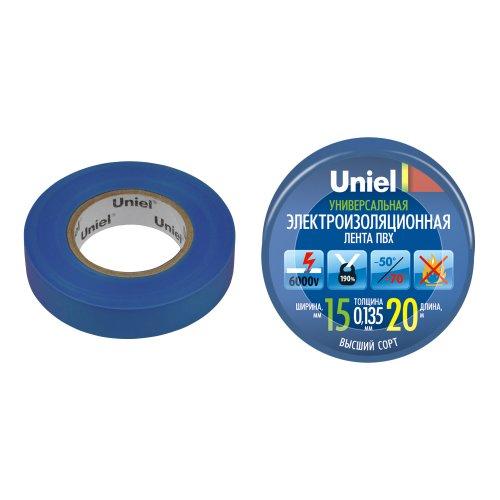 UIT-135P 20-15-01 BLU Изоляционная лента Uniel 20м. 15мм. 0.135мм. 1шт. цвет Синий