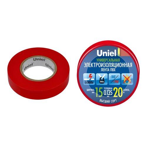 UIT-135P 20-15-01 RED Изоляционная лента Uniel 20м. 15мм. 0.135мм. 1шт. цвет Красный