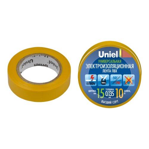 UIT-135P 10-15-01 YEL Изоляционная лента Uniel 10м. 15мм. 0.135мм. 1шт. цвет Желтый