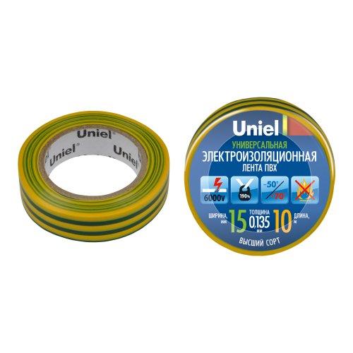 UIT-135P 10-15-01 YGR Изоляционная лента Uniel 10м. 15мм. 0.135мм. 1шт. цвет Желто-Зеленый