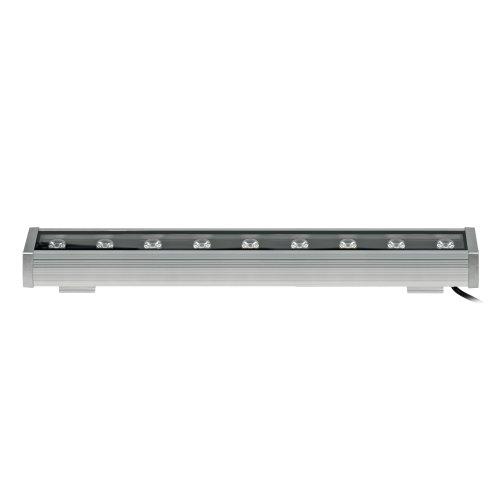 ULF-Q552 9W-WW IP65 SILVER Прожектор светодиодный линейный. 500мм. Теплый белый свет. Угол 45 градусов. TM Volpe.