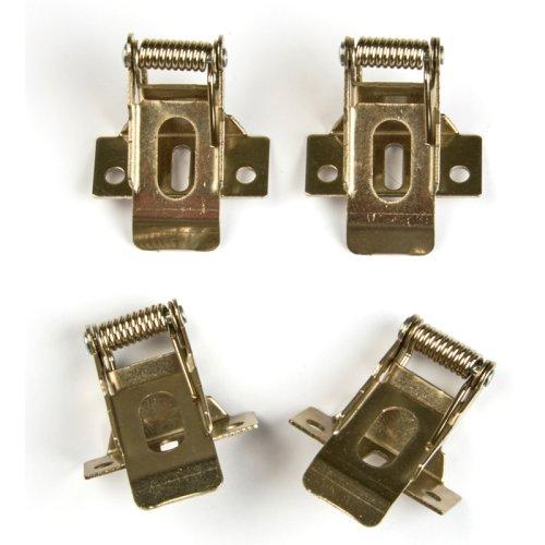 UFL-F04 SILVER 150 POLYBAG Комплект крепежных скоб на пружинах 4шт. для установки в гипсокартон. TM Uniel.