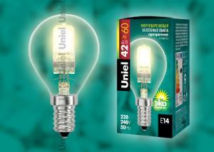 HCL-42-CL-E14 globe Лампа галогенная. Картонная коробка