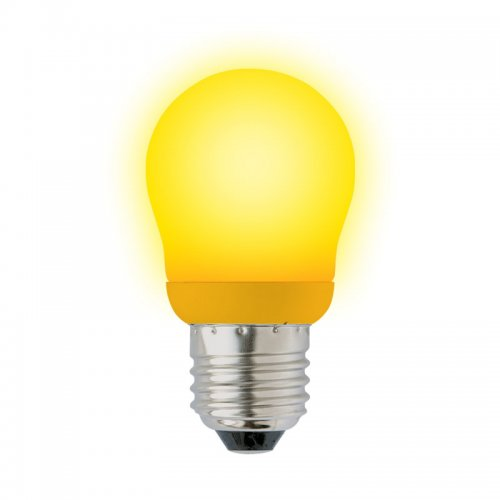 ESL-G45-9-YELLOW-E27 Лампа энергосберегающая. Картонная упаковка