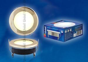 GX53-9-2700-Н5 Золото. Светильник встраиваемый с лампой. IP54