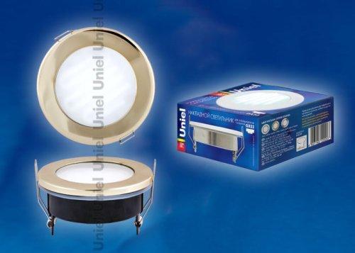 GX53-9-4200-Н5 Золото. Светильник встраиваемый с лампой. IP54