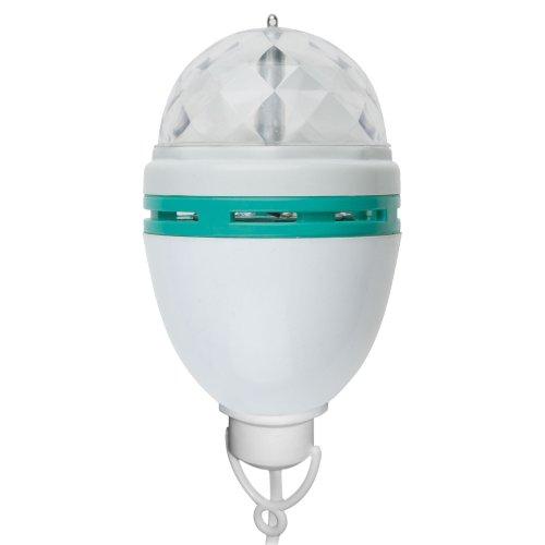 Светодиодный светильник-проектор  ULI-Q303 2.5W-RGB WHITE. Подвесной. Серия DISCO. многоцветный. ТМ VOLPE. Кабель с вилкой. 220В. Цвет корпуса белый.