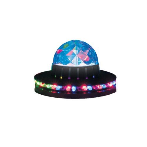 Светодиодный светильник-проектор ULI-Q305 3.5W-RGB BLACK. Напольный. Серия DISCO. многоцветный. Горизонтальная и вертикальная проекции. ТМ VOLPE. Кабель с вилкой. 220В. Цвет корпуса черный .