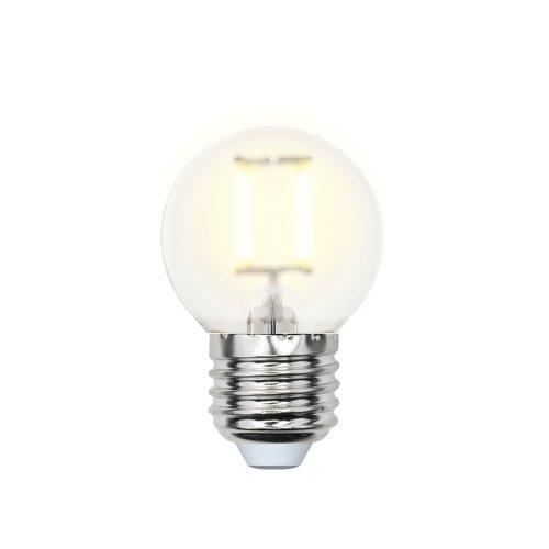 LED-G45-6W-WW-E27-FR PLS02WH Лампа светодиодная. Форма шар. матовая. Серия Sky. Теплый белый свет. Картон. ТМ Uniel.