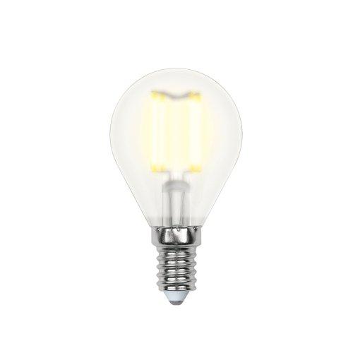 LED-G45-6W-WW-E14-FR PLS02WH Лампа светодиодная. Форма шар. матовая. Серия Sky. Теплый белый свет. Картон. ТМ Uniel.