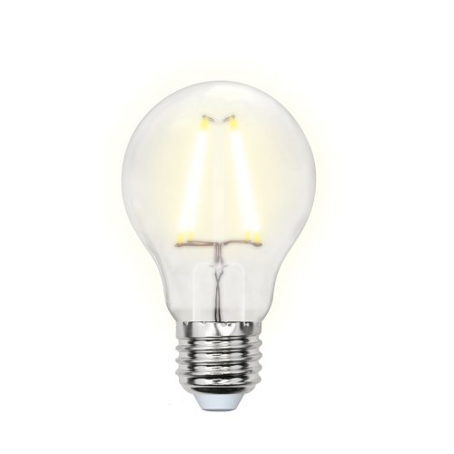 LED-A60-8W-WW-E27-FR PLS02WH Лампа светодиодная. Форма A. матовая. Серия Sky. Теплый белый свет. Картон. ТМ Uniel.