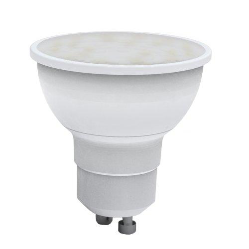 LED-JCDR-5W-WW-GU10-O Лампа светодиодная Volpe. Форма JCDR. матовый рассеиватель. Материал корпуса пластик. Цвет свечения теплый белый. Серия Optima. Упаковка картон