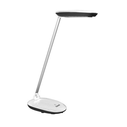 TLD-531 Black-White-4W-LED-400Lm-4500K-Dimmer Светильник настольный. Сенсорный выключатель. Диммер. Чёрный с белым. TM Uniel.