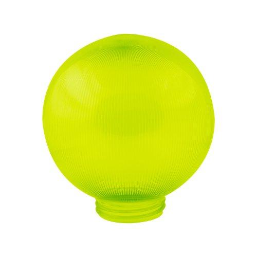 UFP-P200A GREEN Рассеиватель призматический с насечками в форме шара для садово-парковых светильников. Диаметр 200мм. Тип соединения с крепежным элементом резьбовой. Материал САН-пластик. Цвет зеленый. Упаковка 4 шт. в групповой картонной коробке.