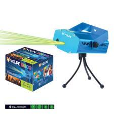 UDL-Q350 4P-G BLUE Лазерный проектор. 4 типа проекции. Микрофон. Регулировка скорости вращения лазера и частоты пульсации. ТМ Volpe.