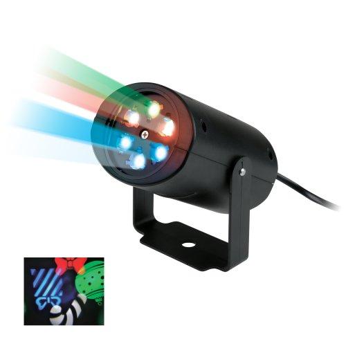 ULI-Q306 4W-RGB BLACK XMAS Светодиодный светильник-проектор. Проекция рождество. RGB. Кабель с вилкой. 220В. TM Volpe.