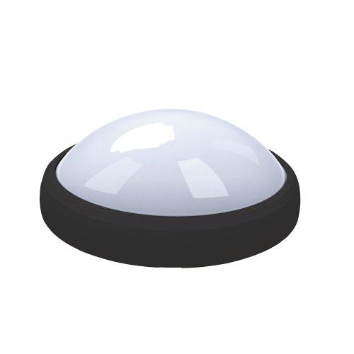 ULW-O03-8W-NW IP65 BLACK Овал. Светильник светодиодный влагозащищенный пластиковый корпус. 8Вт. 560 Лм. 4500 К белый свет. IP65. 220В. Цвет корпуса черный. Упаковка коробка