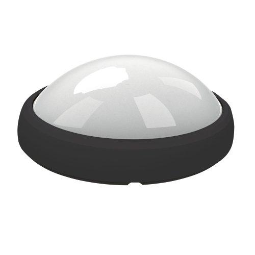 ULW-O04-12W-NW IP65 BLACK Овал. Светильник светодиодный влагозащищенный пластиковый корпус. 12Вт. 840 Лм. 4500 К белый свет. IP65. 220В. Цвет корпуса черный. Упаковка коробка