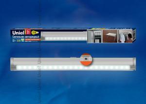 ULE-F02-2W-NW-OS IP20 SILVER картон Светодиодный светильник с датчиком открывания двери. Длина 27.5 см. Материал корпуса алюминий. цвет серебро. Белый свет.