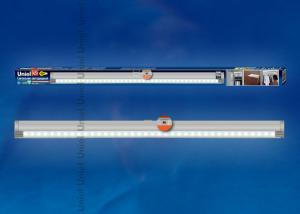 ULE-F02-4.5W-NW-OS IP20 SILVER картон Светодиодный светильник с датчиком открывания двери. Длина 59.5 см. Материал корпуса алюминий. цвет серебро. Белый свет.