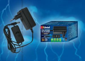 UET-VPA-036A20 Блок питания для светодиодов с вилкой. 36 Вт. 12В. IP20