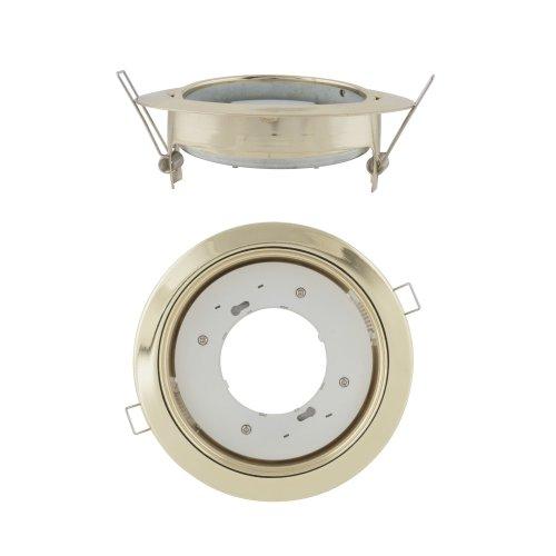 GX53-H5-M GOLD 1 PROM Светильник ультратонкий поворотный встраиваемый. Цвет корпуса золото .Картонная упаковка.