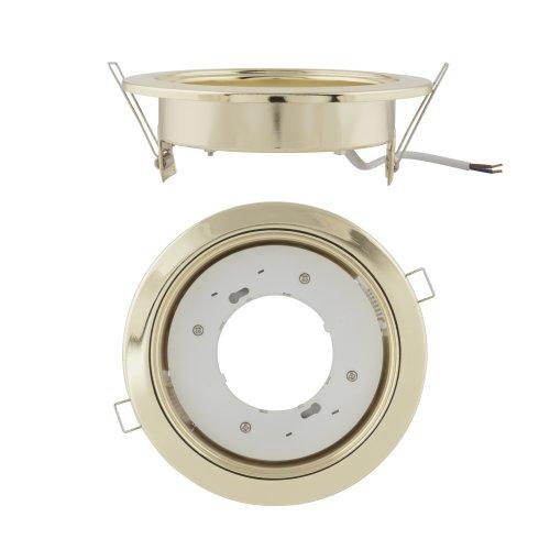 GX70-H5 GOLD 1 PROM Светильник ультратонкий встраиваемый. Цвет корпуса золото. Картонная упаковка.