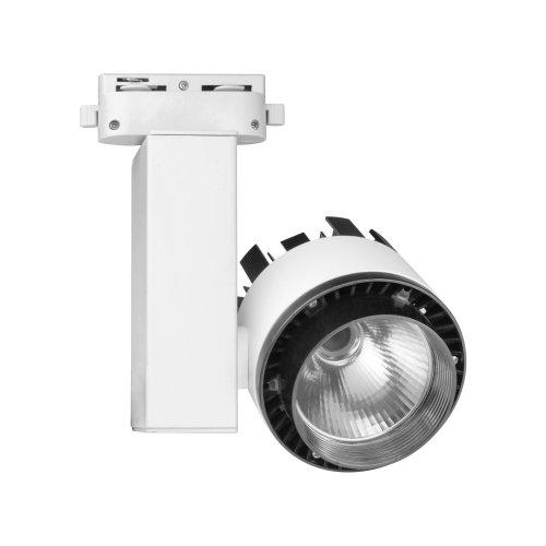 ULB-Q250 20W-NW-A WHITE Светильник светодиодный трековый. 20 Вт. Диаметр- 3.5'. 1200 Лм. Цвет свечения белый. IP20. Корпус белый. TM Uniel