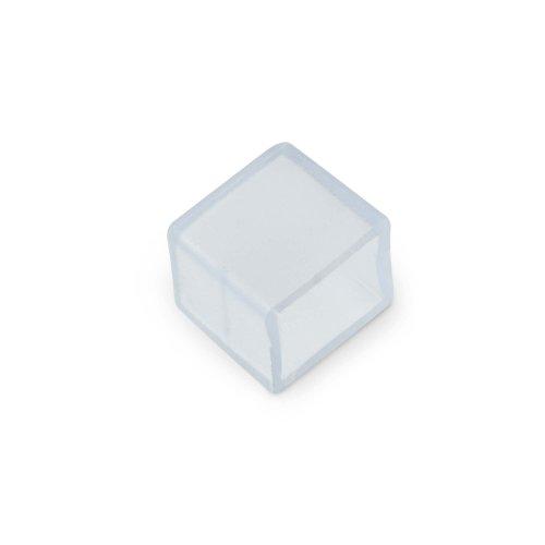 UCW-Q220 K10 CLEAR 025 POLYBAG Изолирующий зажим заглушка для светодиодной ленты 3528-2835. 10 мм. цвет прозрачный. 25 штук в пакете