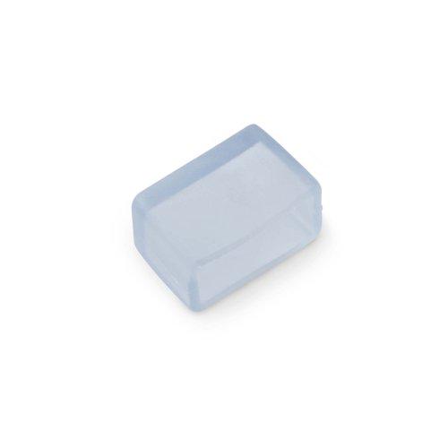 UCW-Q220 K12 CLEAR 025 POLYBAG Изолирующий зажим заглушка для светодиодной ленты 5050. 12-14 мм. цвет прозрачный. 25 штук в пакете