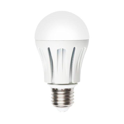 LED-A60-9W-WW-E27-FR ALM01WH Лампа светодиодная. Форма A. матовая колба. Материал корпуса алюминий. Цвет свечения теплый белый. Серия Merli. Упаковка пластик