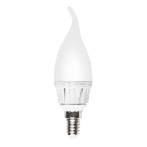 LED-CW37-6W-WW-E14-FR ALM01WH Лампа светодиодная. Форма свеча на ветру. матовая колба. Материал корпуса алюминий. Цвет свечения теплый белый. Серия Merli. Упаковка пластик