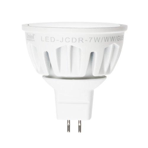 LED-JCDR-7W-WW-GU5.3-FR ALM01WH Лампа светодиодная. Материал корпуса алюминий. Цвет свечения теплый белый. Серия Merli. Упаковка пластик