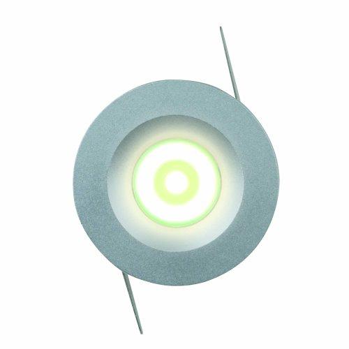 ULM-R02-1W-NW IP20 Sand Silver картон Светильник светодиодный встраиваемый. 110-240В. Материал корпуса алюминий. цвет матовое серебро. Белый свет.