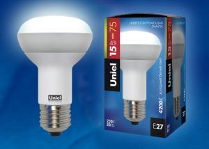 ESL-RM63 FR-A15-4200-E27 Лампа энергосберегающая. спираль. Картонная упаковка