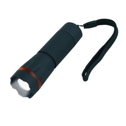 S-LD037-C Black Фонарь Uniel серии Стандарт Simple light focus 1 мах. пластиковый корпус.1 Watt LED. упаковка кламшелл. 3хААА н-к. цвет Черный