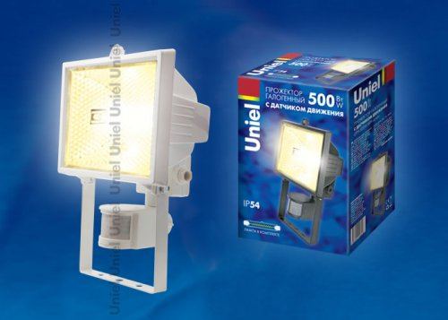 UPH-500W-WH- sensor Прожектор белый с галогенной лампой сенсорный. Картонная упаковка