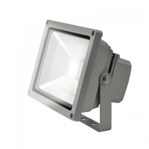 ULF-S01-20W-DW IP65 110-240В Прожектор светодиодный. Корпус серый. Цвет свечения дневной. Степень защиты IP65. Картонная упаковка