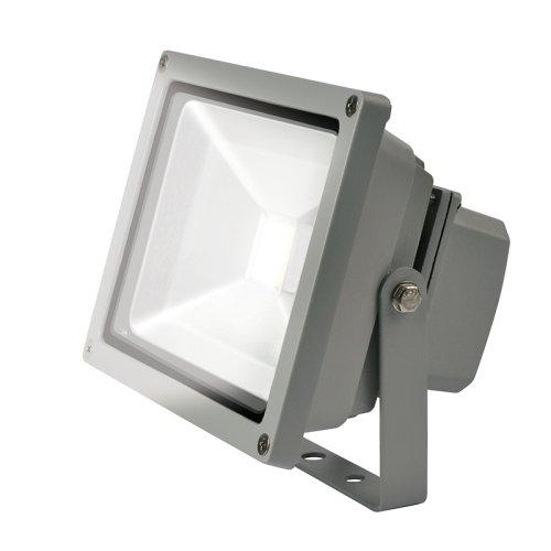 ULF-S01-30W-DW IP65 110-240В Прожектор светодиодный. Корпус серый. Цвет свечения дневной. Степень защиты IP65. Картонная упаковка