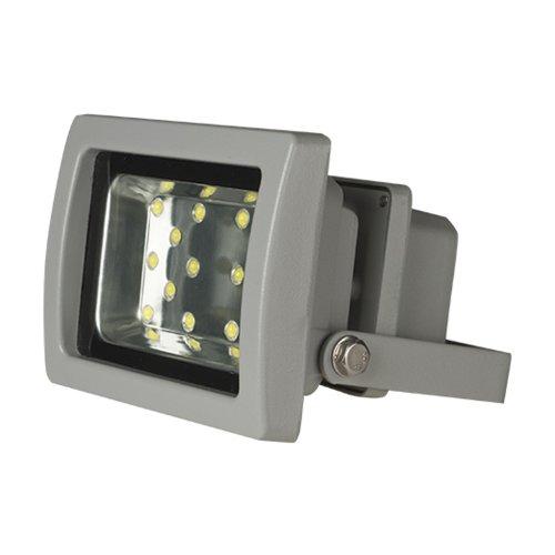 ULF-S03-16W-DW IP65 110-240В Прожектор светодиодный. Корпус серый. Цвет свечения дневной. Степень защиты IP65. Картонная упаковка