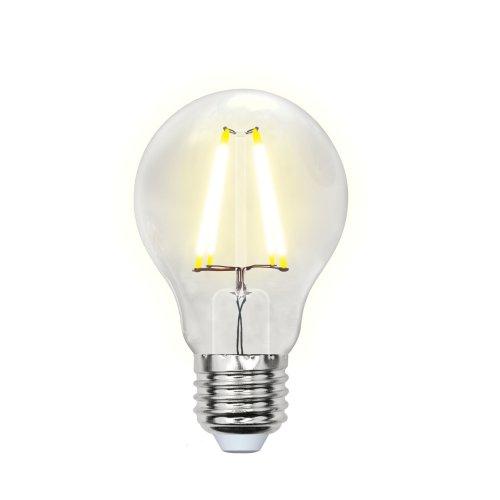 LED-A60-8W-WW-E27-CL PLS02WH Лампа светодиодная. Форма A. прозрачная. Серия Sky. Теплый белый свет. Картон. ТМ Uniel.