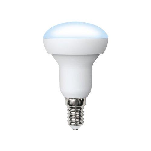 LED-R50-6W-NW-E14-FR-O Лампа светодиодная Volpe. Форма Рефлектор. матовая колба. Материал корпуса пластик. Цвет свечения белый. Серия Optima. Упаковка картон