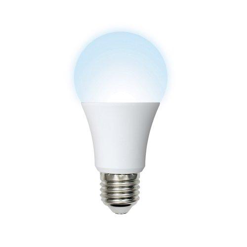 LED-A60-11W-NW-E27-FR-DIM-O Лампа светодиодная диммируемая. Форма A. матовая колба. Материал корпуса пластик. Цвет свечения белый. Серия Optima. Упаковка картон. ТМ Volpe