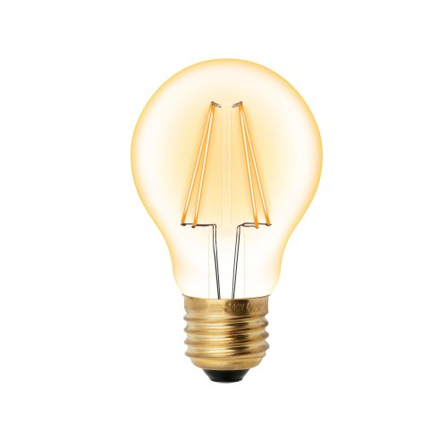 LED-A60-6W-GOLDEN-E27 GLV21GO Лампа светодиодная Vintage. Форма A. золотистая колба. Картон. ТМ Uniel