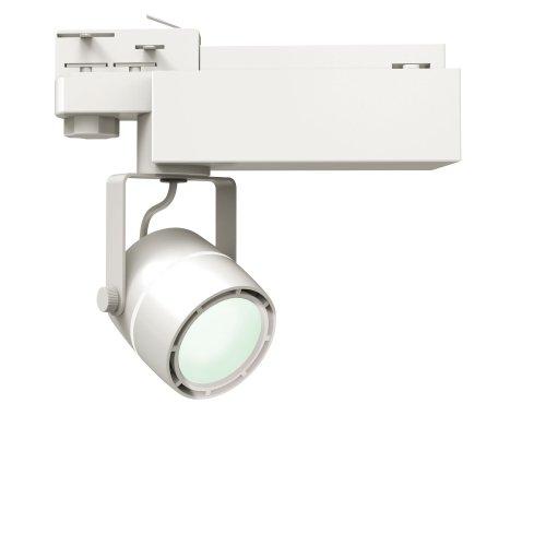 ULB-M08H-24W-NW WHITE Светильник светодиодный трековый. 24 Вт. 2000 Лм. Белый свет 4200К. Корпус белый. 6x16.8 см. ТМ Uniel.