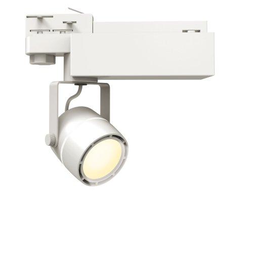 ULB-M08H-35W-WW WHITE Светильник светодиодный трековый. 35 Вт. 2800 Лм. Теплый белый свет 3200К. Корпус белый. 6x16.8 см. ТМ Uniel.