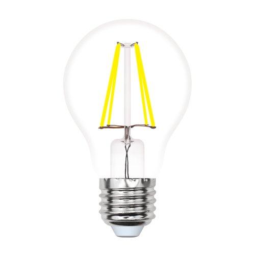 LED-A60-7W-WW-E27-CL-MB GLM10TR Лампа светодиодная. Форма А. прозрачная. Серия Multibright. Теплый белый свет 3000K. 100-50-10. Картон. ТМ Uniel.