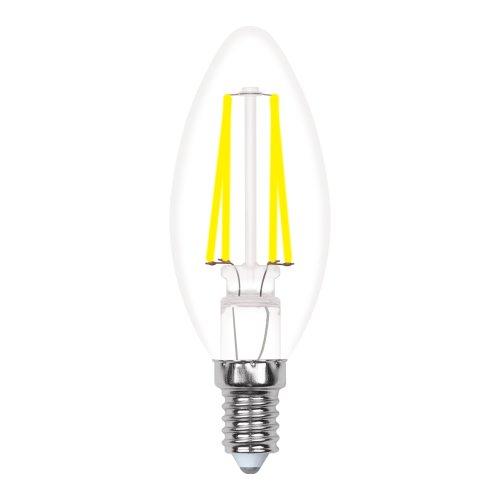 LED-C35-5W-WW-E14-CL-MB GLM10TR Лампа светодиодная. Форма свеча. прозрачная. Серия Multibright. Теплый белый свет 3000K. 100-50-10. Картон. ТМ Uniel.