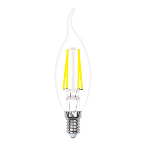 LED-CW35-5W-WW-E14-CL-MB GLM10TR Лампа светодиодная. Форма свеча на ветру. прозрачная. Серия Multibright. Теплый белый свет 3000K. 100-50-10. Картон. ТМ Uniel.